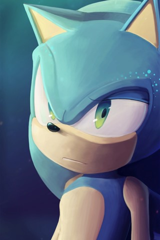 iPhone Wallpaper Sonic the Hedgehog, art picture