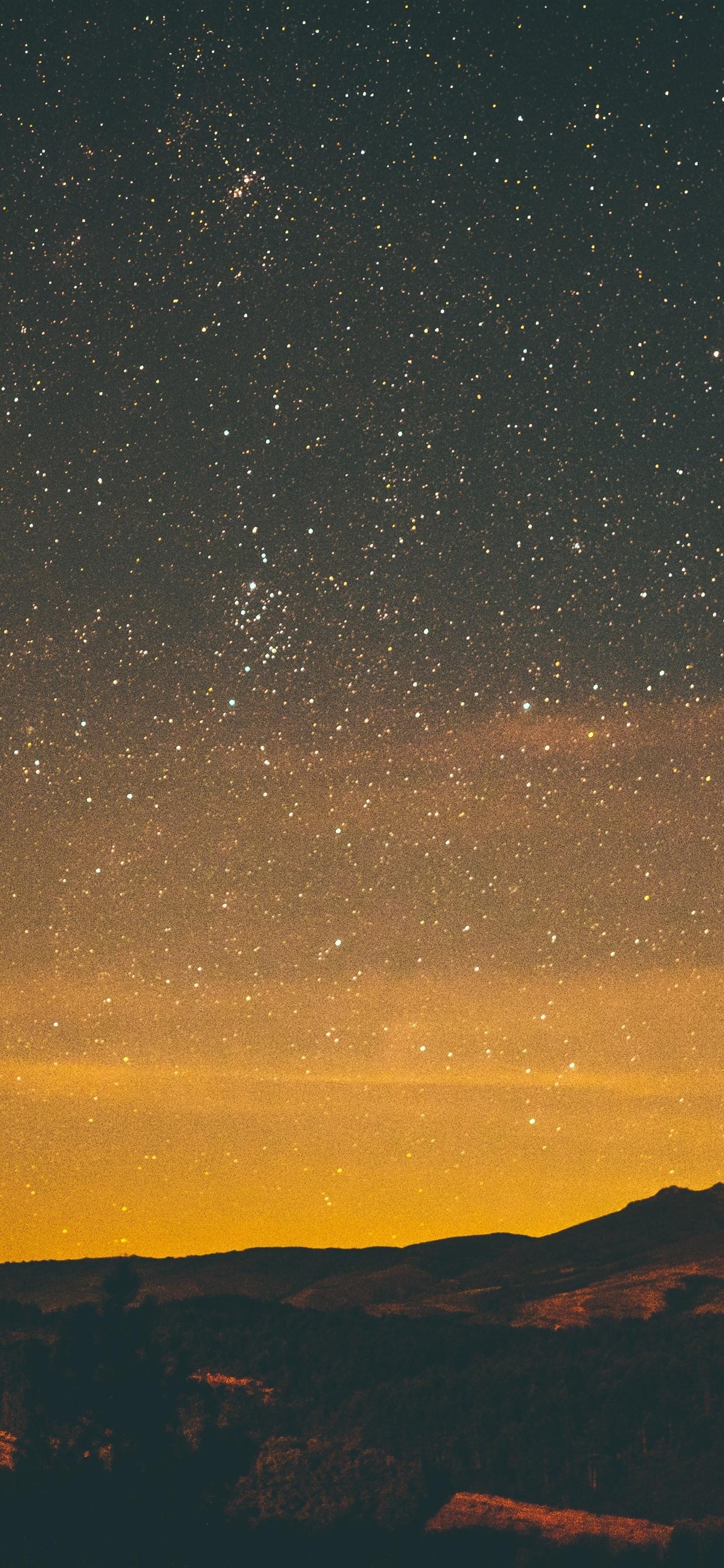 Starry, night, stars, sky 1242x2688 iPhone XS Max wallpaper
