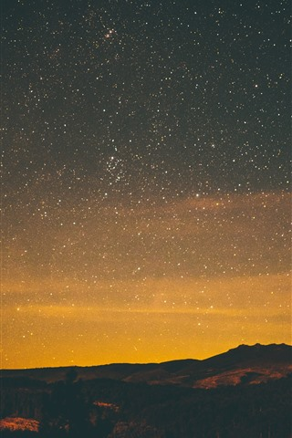Starry Night Stars Sky 1242x2688 Iphone 11 Pro Xs Max Wallpaper Background Picture Image