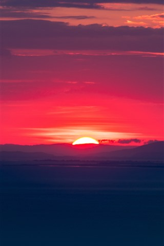 Sunset Red Sky Clouds Dusk 1242x2688 Iphone 11 Pro Xs Max Wallpaper Background Picture Image