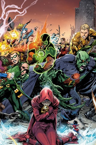 iPhone Wallpaper Superheroes, DC comics, art picture