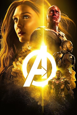 iPhone Wallpaper The Avengers, superheroes, Marvel movie, black background