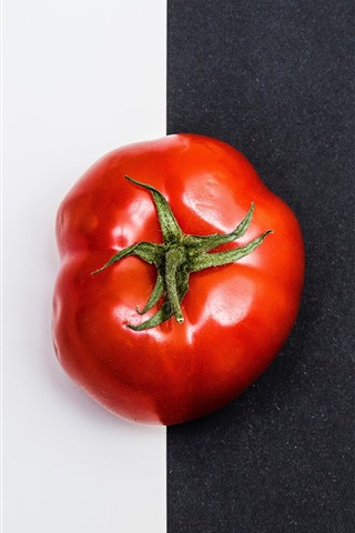 iPhone Wallpaper Tomato, black and white