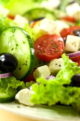 iPhone Wallpaper Vegetable salad
