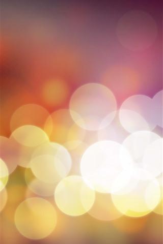 iPhone Papéis de Parede Círculos de luz quentes, brilhantes