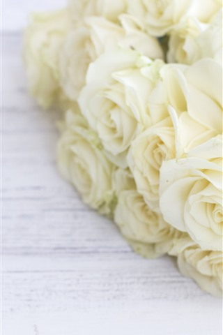 iPhone Wallpaper White roses, bouquet, flowers