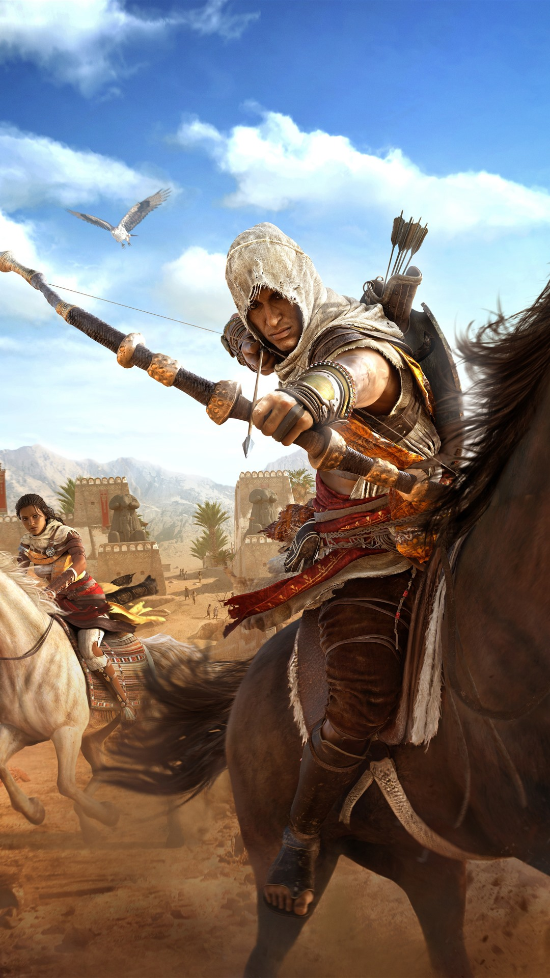 Assassin S Creed Origins Horse Bow Desert 1242x2688 Iphone 11
