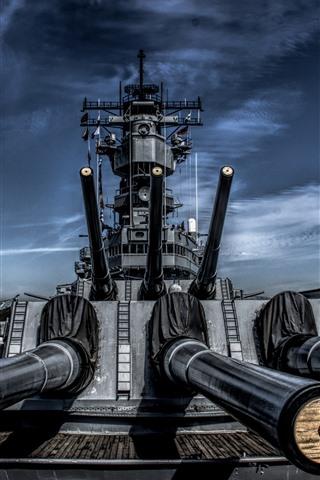 iPhone Wallpaper Battleship, guns