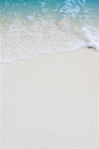 iPhone Papéis de Parede Praia, mar, espuma, areias