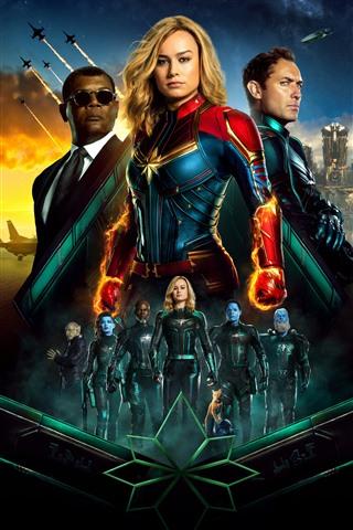iPhone Papéis de Parede Capitão Marvel, DC Comics filme