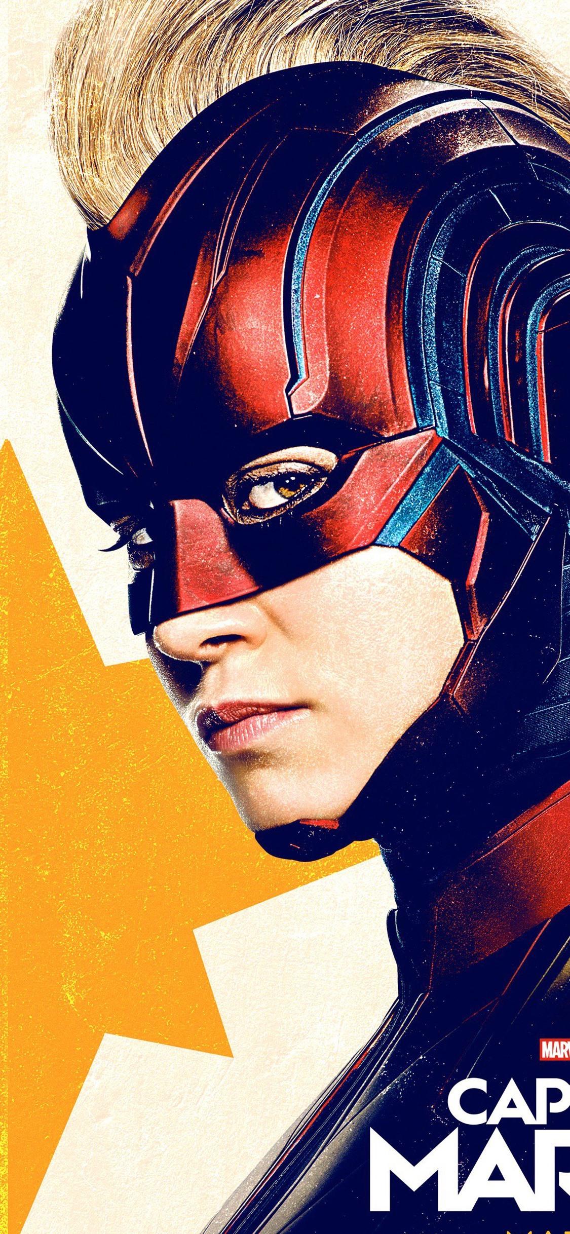 Captain Marvel Girl Superhero 1125x2436 Iphone 11 Pro Xs X Wallpaper Background Picture Image