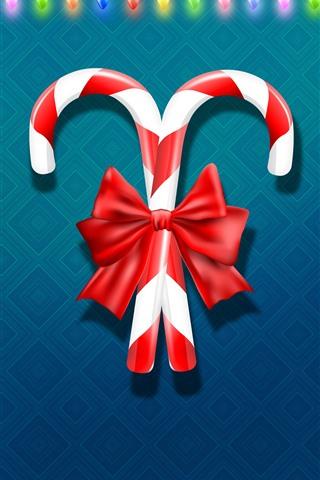 iPhone Papéis de Parede Doces de Natal, luzes coloridas do feriado, vector design