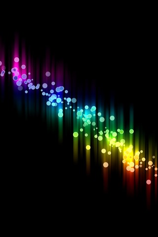 iPhone Wallpaper Colorful spectrum, black background, abstract picture