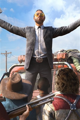 iPhone Wallpaper Far Cry 5, Ubisoft game