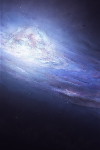 iPhone Wallpaper Galaxy, space, art picture
