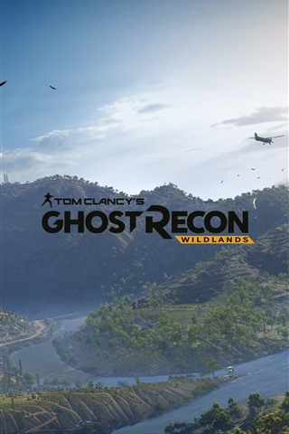 iPhone Wallpaper Ghost Recon: Wildlands, mountains, trees, aircraft