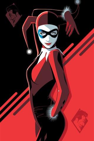 iPhone Wallpaper Harley Quinn, DC comics, art picture