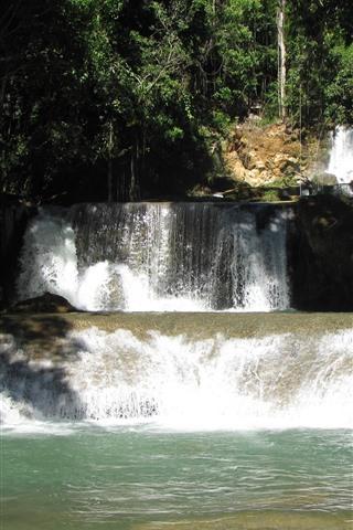 iPhone Wallpaper Jamaica Waterfalls