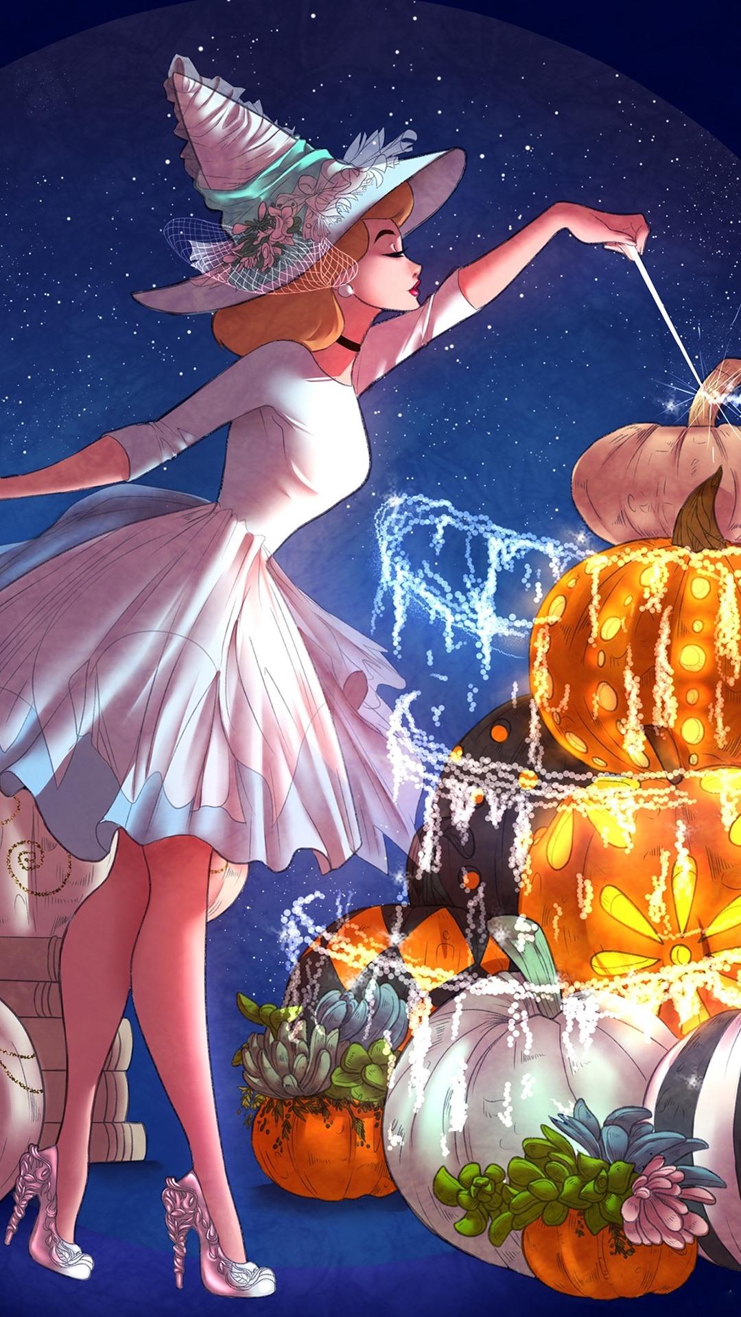 Magic Girl Pumpkin Anime 1080x1920 Iphone 8 7 6 6s Plus