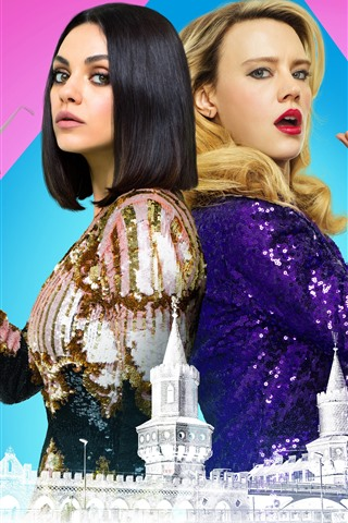 iPhone Wallpaper Mila Kunis, Kate McKinnon, The Spy Who Dumped Me