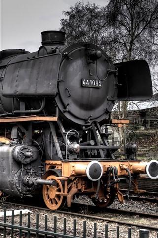 iPhone Wallpaper Old train, steam train