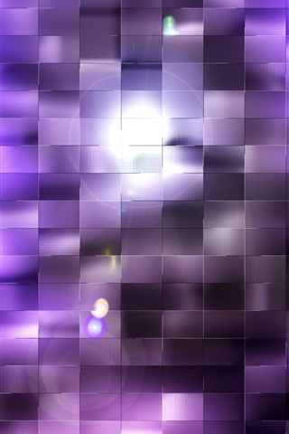 iPhone Wallpaper Purple squares, light, abstract background