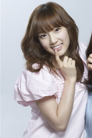 iPhone Wallpaper SNSD, two korean girls