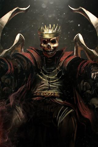 iPhone Wallpaper Skull, king, art picture