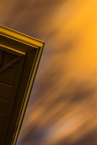 iPhone Wallpaper Sky, dusk, door
