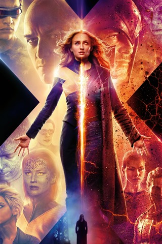 iPhone Wallpaper Sophie Turner, X-Men: Dark Phoenix