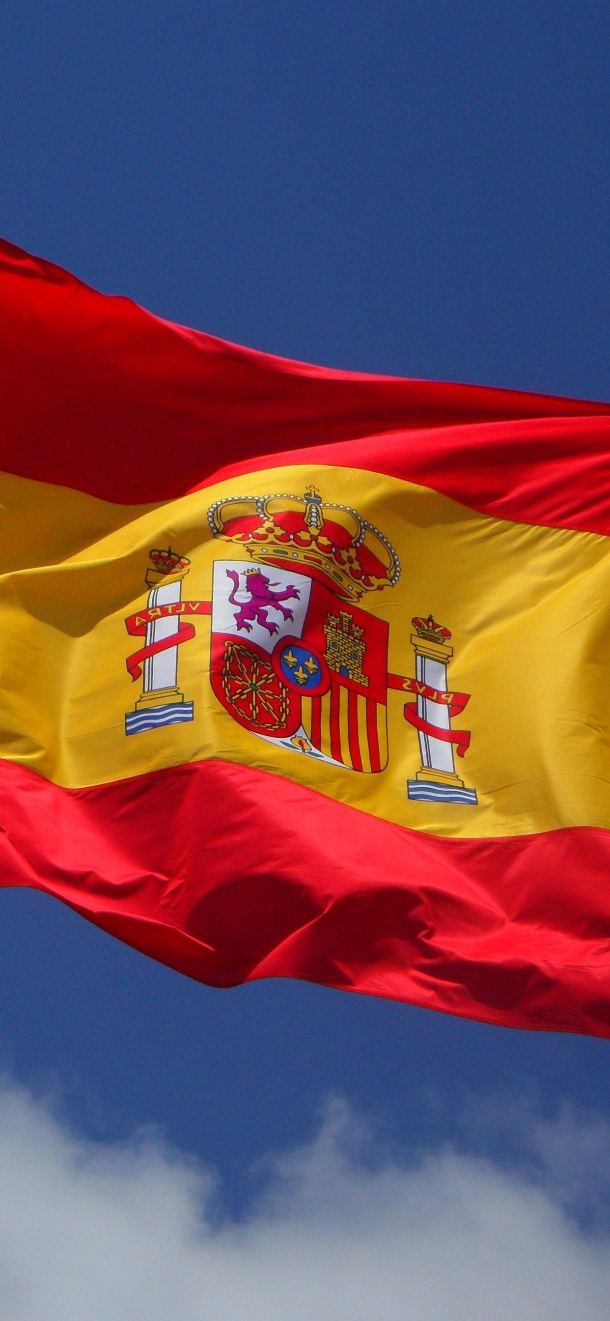 スペイン国旗 風 1242x2688 Iphone 11 Pro Xs Max 壁紙 背景 画像