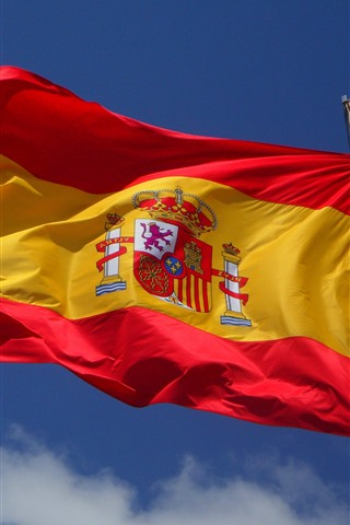 iPhone Wallpaper Spain flag, wind