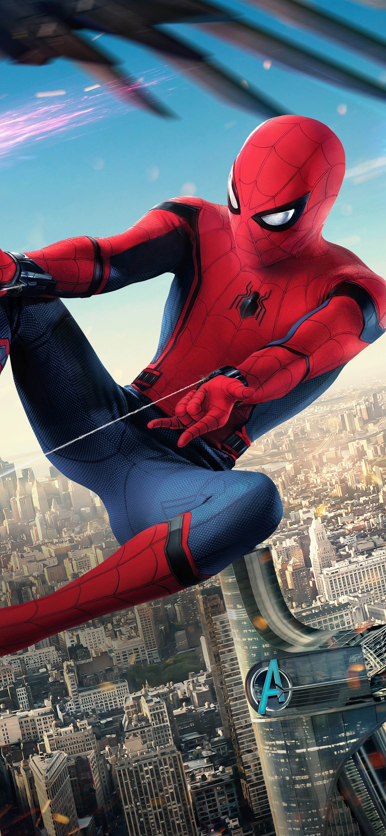 Spider Man Homecoming Iron Man Marvel Superheroes 1242x2688