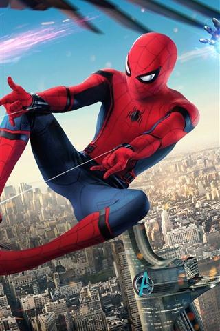 Spider Man Heimkehr Iron Man Marvel Superhelden 1242x2688