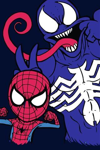 iPhone Wallpaper Spider-Man and Venom, DC comics