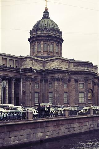 iPhone Wallpaper St. Petersburg, Kazan cathedral, river