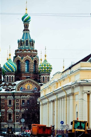 iPhone Wallpaper St. Petersburg, buildings, city, Moscow, Russia