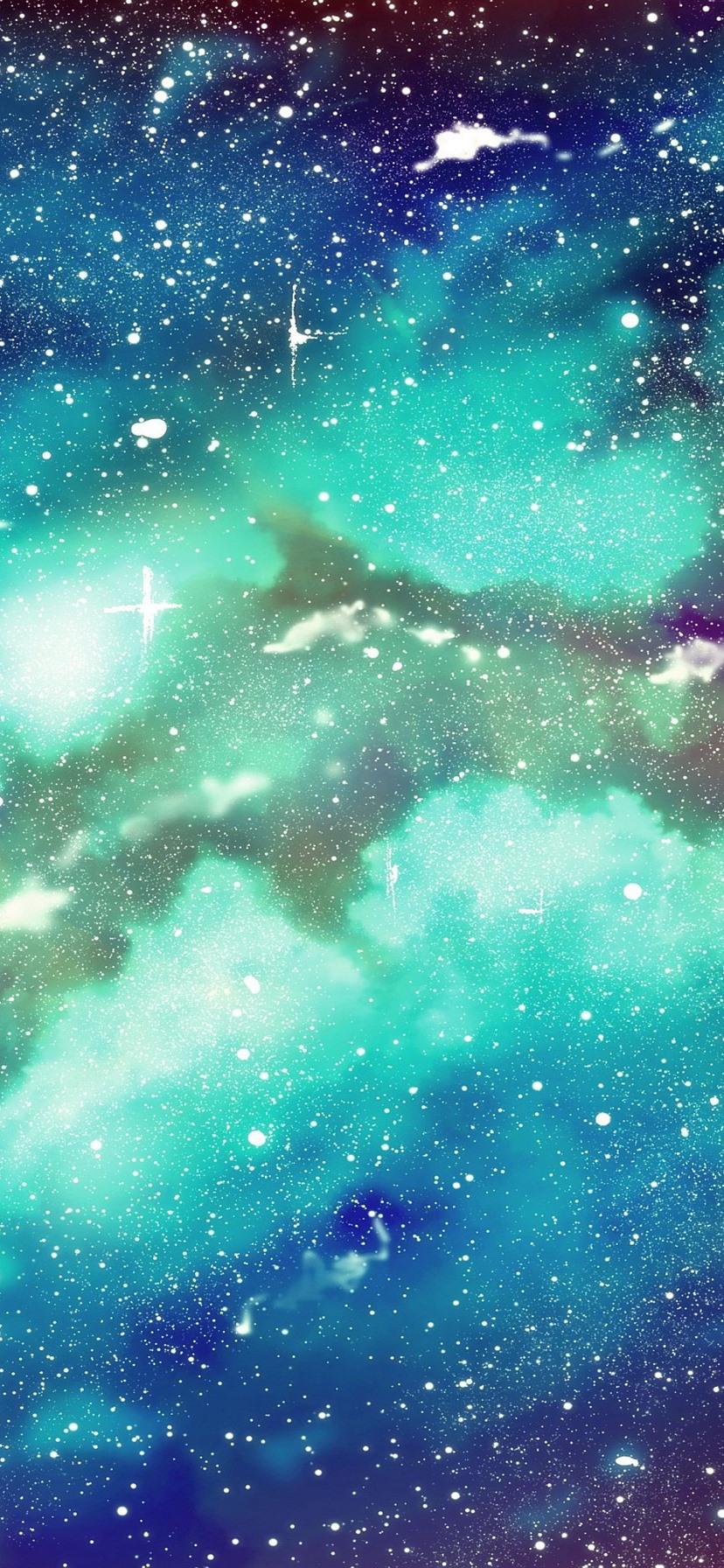 Starry galaxy blue