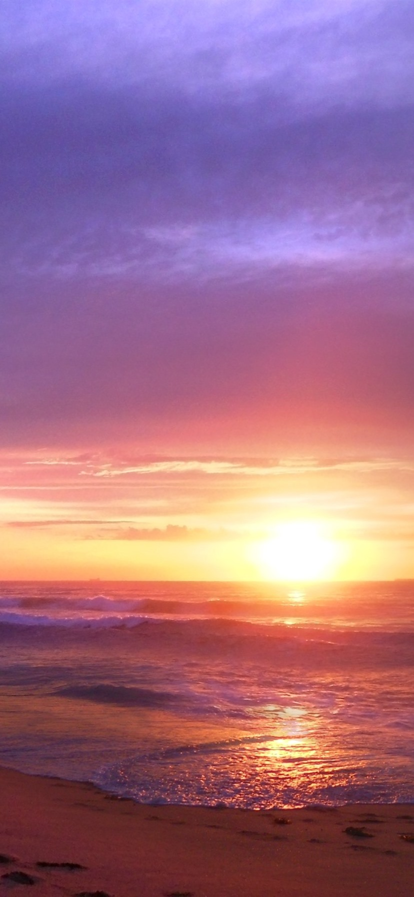 Sunset Sea Waves Beach Nature Landscape 828x1792 Iphone 11 Xr Wallpaper Background Picture Image