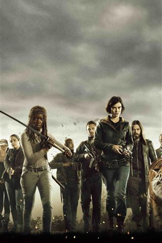 iPhone Wallpaper The Walking Dead, AMC TV series