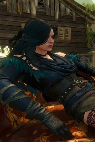 iPhone Wallpaper The Witcher 3: Wild Hunt, beautiful girl, video game