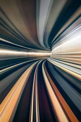 iPhone Wallpaper Tunnel, light lines, speed