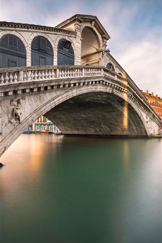 iPhone Papéis de Parede Veneza, Italy, ponte, Rio, cidade