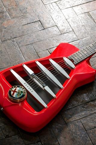 iPhone Wallpaper Alfa Romeo, guitar
