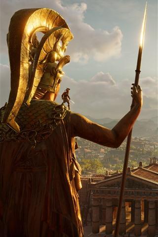 iPhone Wallpaper Assassin's Creed, Greece, palace, sunshine
