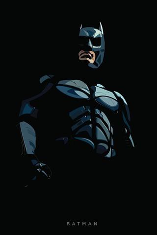 iPhone Wallpaper Batman, superhero, art picture, black background