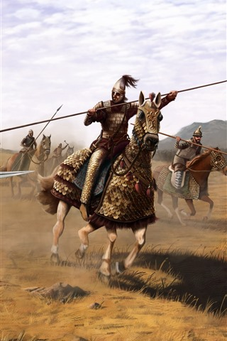 iPhone Wallpaper Battle, warrior, armor, art picture