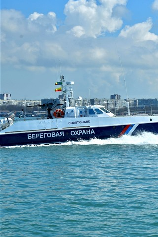 iPhone Wallpaper Boat, speed, sea