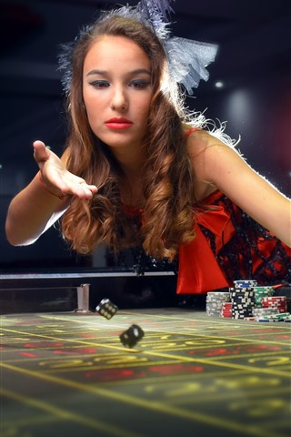 iPhone Wallpaper Casino, girl