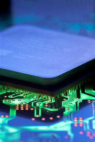 iPhone Wallpaper Chip, IC, PCB, high-tech